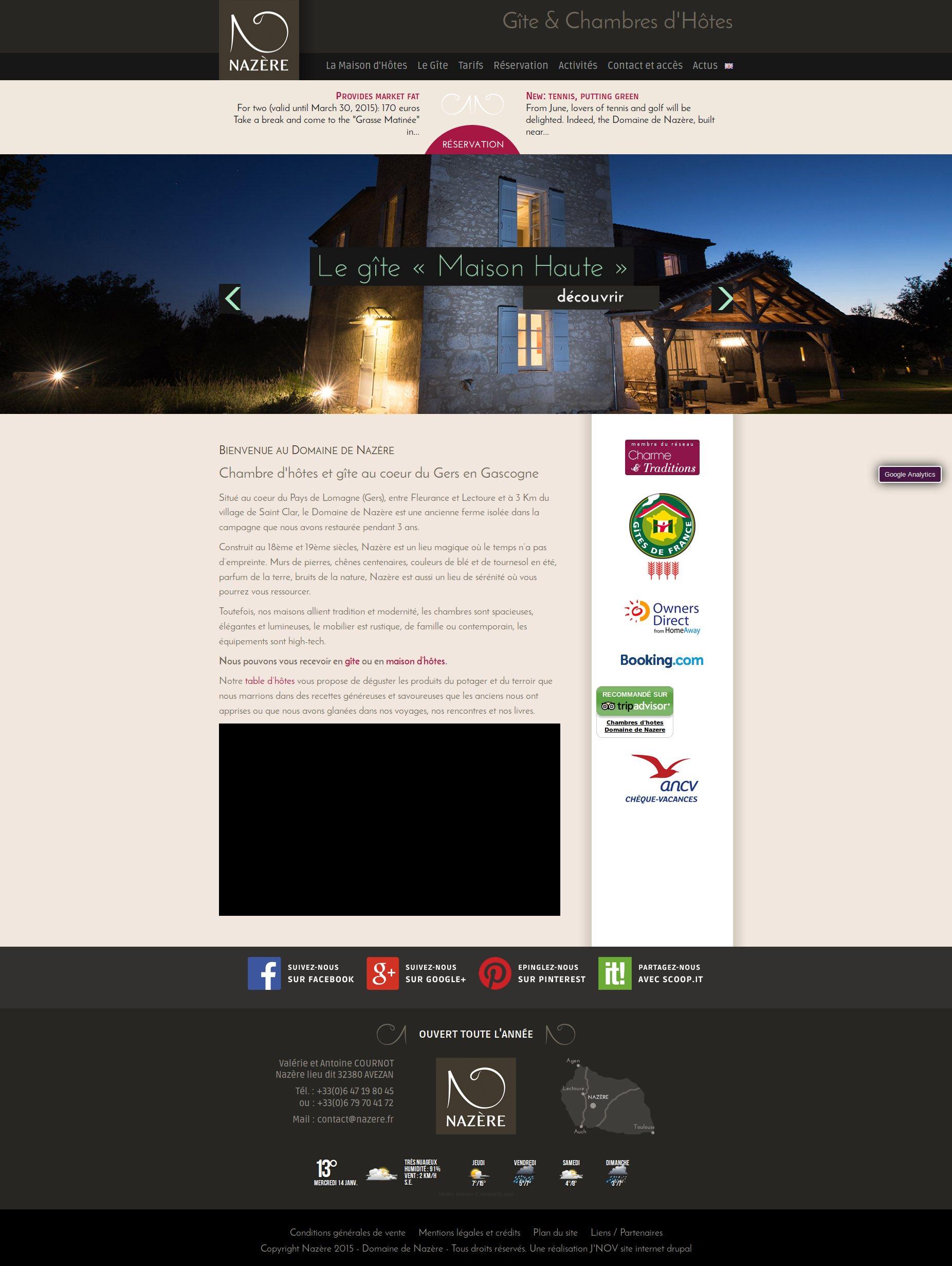 Création site internet Drupal pour chambres d hotes et gite dans